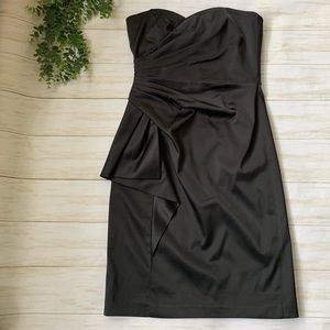 White House black market satin little black dress